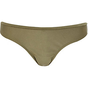 Khaki bling bikini brief