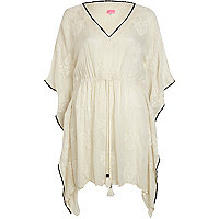 Cream cheesecloth kaftan