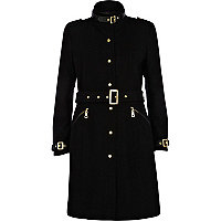 Black high neck city coat