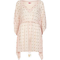 Light pink embellished kaftan