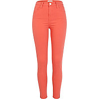 Light red Lana superskinny jeans