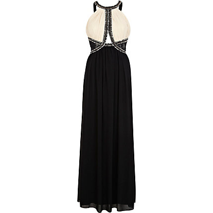 Black Little Mistress embellished maxi dress
