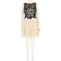 Black Little Mistress lace top prom dress