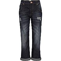 Dark wash slouch boyfriend jeans