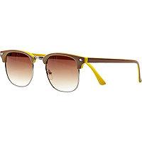 Beige two tone retro sunglasses