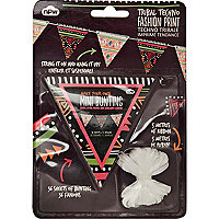 Tribal print DIY bunting