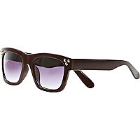 Dark red studded retro sunglasses