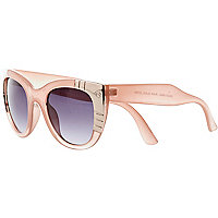 Pink metal plate cat eye sunglasses