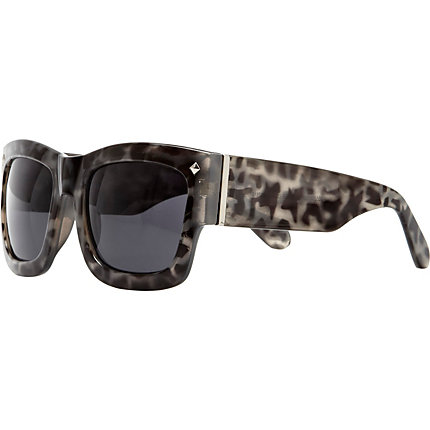 Grey tortoiseshell oversized sunglasses