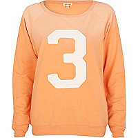 Coral 3 applique varsity sweatshirt