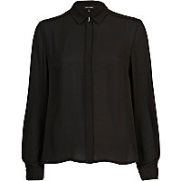 Black spike detail long sleeved shirt