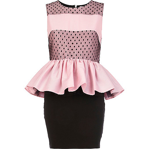 Pink Lola Loves peplum dress