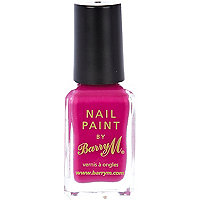 Bright fuchsia Barry M nail varnish