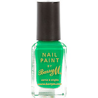 Green Barry M nail varnish