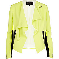 Lime waterfall biker jacket