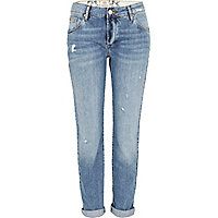 Mid wash Lexie slim boyfriend jeans