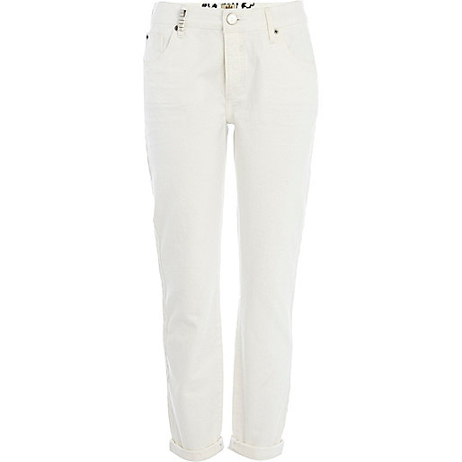 White Lexie slim boyfriend jeans