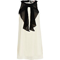 Cream Chelsea Girl frill front dress