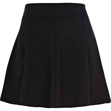 Black full skater skirt