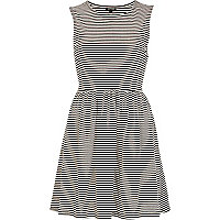 Black and white stripe smock dress