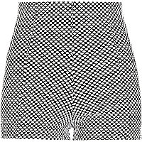 Black and white polka dot city shorts