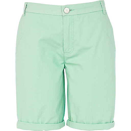 Mint green bermuda shorts