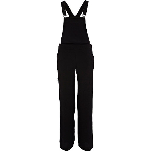 Black smart trouser dungarees