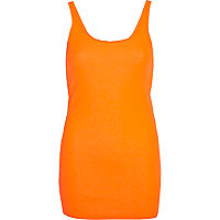 Bright coral scoop neck vest