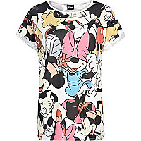 White Mickey Mouse print t-shirt