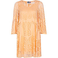 Orange Chelsea Girl angel sleeve dress