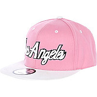 Pink Los Angeles trucker hat