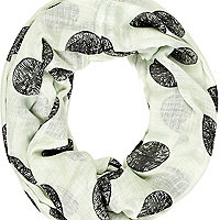 Pale aqua spot print lightweight snood