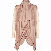 Pink lightweight waterfall biker jacket