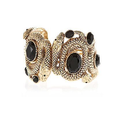 Gold tone RI Collection snake cuff