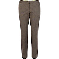 Brown smart cigarette trousers