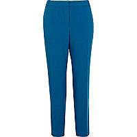 Blue smart cigarette trousers