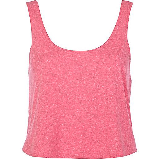 Pink cropped boxy vest