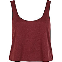 Dark red cropped boxy vest