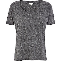 Grey neppy boxy t-shirt