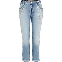 Light wash Lexie boyfriend slim jeans