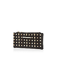 Black multi stud and skull purse