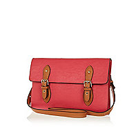 Pink cross body satchel