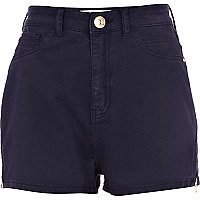 Navy tube shorts