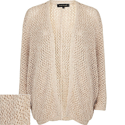 Cream batwing fluffy cardigan