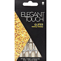 Elegant Touch gold glitter stick-on nails