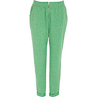 Green neppy front zip joggers