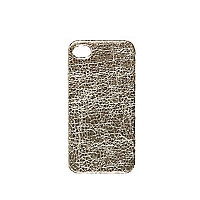 Gold tone crackle iPhone 4/4S case