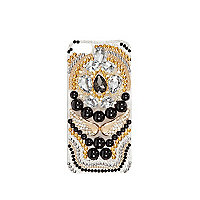 Black gem stone embellished iPhone 5 case