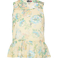 Cream Chelsea Girl floral print peplum top