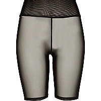 Black mesh cycling shorts